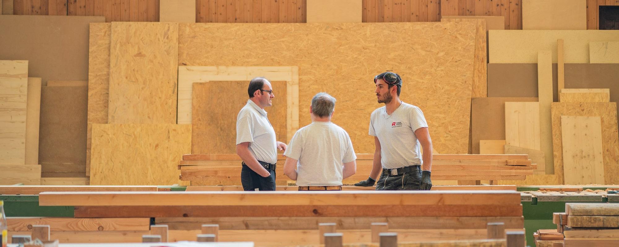 Produktion Holzbauunternehmen